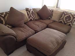 dfs brown and gold corner sofa