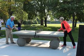concrete ping pong table. Open Air Ping Pong Comes To Kiwanis Park Concrete Table