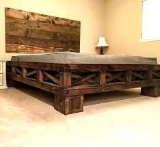 Rustic King Size Bed Frame Frames Oak Featuring Wood – RLCI