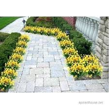 window plants outdoor artificial fake flowers faux yellow daffodils outdoor greenery shrubs plants plastic bushes whole