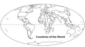 World Map Coloring Page With Countries The Colouring Free