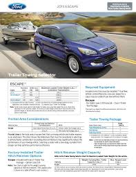 Ford Explorer Towing Capacity Chart 2015 Ford Escape Towing Capacity Information Bloomington