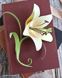 Simple Diy Paper Easter Lily Tutorial And Pattern To Make Today