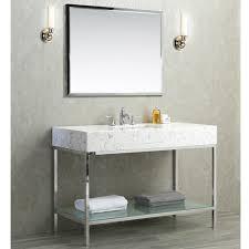 Quartz Bathroom Countertop Ariel By Seacliff Brightwater 48 Stainless Steel Single Sink