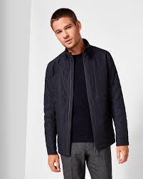 Geo quilted jacket - Navy | Jackets & Coats | Ted Baker &  Adamdwight.com