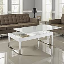 white glass lift top coffee table the