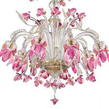 two tier pink iris chandelier