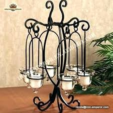 hanging tealight candle holders outdoor cafe chandelier