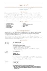 Volunteer Work Resume Examples Resume Examples Volunteer Activities Resume Templates