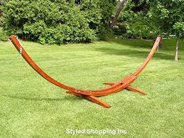 two person hammock with stand. Amazoncom Deluxe Wood Arc Hammock Stand Including Two Person Blue And White Quilted Garden Outdoor To With
