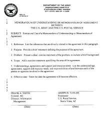 Business Memorandum Examples Memorandum Of Understanding Agreement Format In Word
