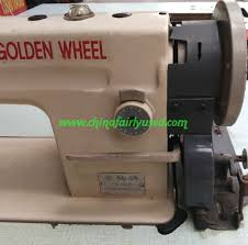 used synchronous car leather thick material equipment industrial electric sewing machine golden wheel dy car clothing sewing machine