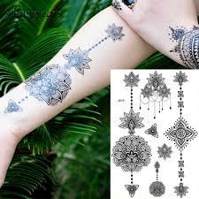 1 предмет модный быстрая водостойкая татуировка женский черный