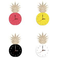 room wooden silent wall clock