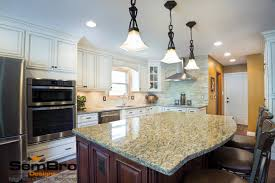Signature Custom Cabinets Signature Pearl With Brownstone Kitchen