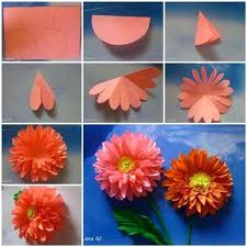 Paper Flower Making Video Dahlia Paper Flower Diy Paper Dahlia Wreath Video Tutorial Lots Of