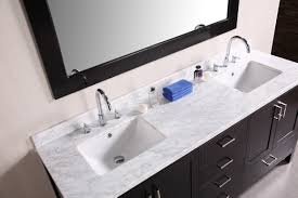double vanity tops with sink. white marble double vanity tops with rectangular undermount sinks and black bathroom cabinet sink