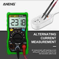 V02b Digital Multimeter 4000 Counts Ac Dc Voltmeter Resistance Meter Tester With Led Lights
