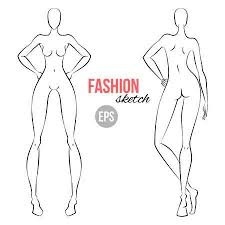 Body Template For Designing Clothes Women S Figure Fashion Sketch Template For Designers Of Clothes