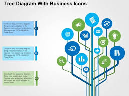 tree diagram powerpoint tree diagram with business icons powerpoint templates powerpoint