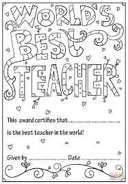 Teacher Coloring Pages Teachers Day Preschool Teachers Appreciation