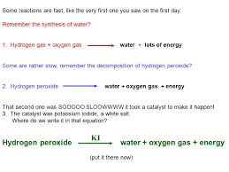 kinetics class 1 ob intro to and equilibrium chemistry example decomposition of hydrogen peroxide