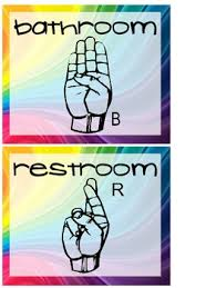 preschool bathroom signs. Wall Posters Of Hand Signals For Bathroom, Water And Tissue Preschool Bathroom Signs