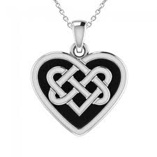 heart shaped solid 925 sterling silver celtic knot pendant necklace sjpsp10013