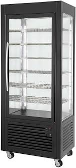 ventilated negative display cabinet fixed grids large model