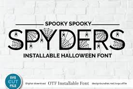 Find & download free graphic resources for dotted line. Halloween Spider Font An Otf File With Spiderweb Letters 885907 Halloween Font Bundles