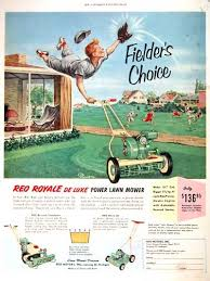 Lawn Mowing Ads 1953 Reo Royale Lawn Mower Classic Vintage Print Ad Lawn