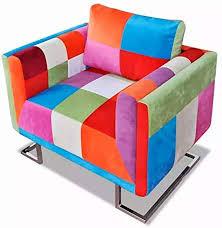 JUMPER Cube Armchair Recliner <b>Armchair with Chrome Feet</b> ...