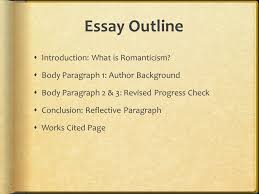 american romanticism a study of american writing and ideas from  essay outline  introduction what is romanticism  body paragraph  author background