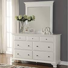 Amazon.com: Roundhill Furniture Laveno 012 White Wood 7-Drawer ...