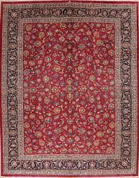 vintage all over fl persian area rug oriental carpet vegetable dye 10 x 13
