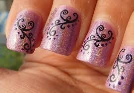 Easy Nail Art Bow And Polka Dot Design On Short Nails. Nail Art ...