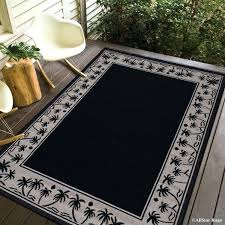 black ivory indoor outdoor with palm tree patterns rug rugs bath mats
