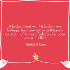 Heavy Heart Quotes Cool A Broken Heart With His B Quotes Writings By Sudha Ranka