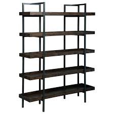 modern industrial bookcase signature design by modern rustic industrial  bookcase with 5 shelves industrial modern shelving