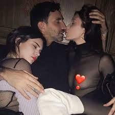 Bella Hadid Kissing Riccardo Tisci Instagram Photo