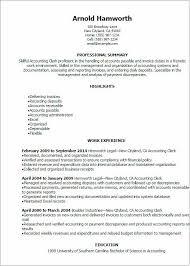 Accounting Clerk Resume Sample Beautiful Account Receivable Clerk