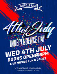 Create Free 4th Of July Flyers Postermywall