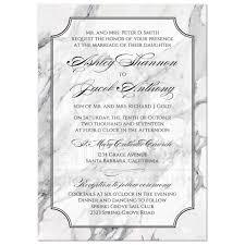 Black And White Invitation Paper Marble Wedding Invitation Traditional Calligraphy Black And White