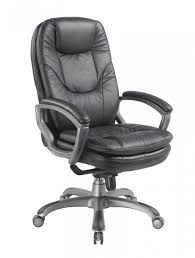 office chair genuine leather white. Kiev Leather Office Chair BCL/U646/LBK Genuine White