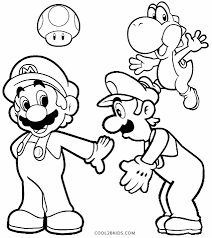 Coloring Pages Mario Luigi Coloring Pages Free And Hat