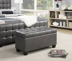 Leather Storage Bench Bedroom Remarkable Rectangle White Leather Tufted Storage Bench Solid Wood