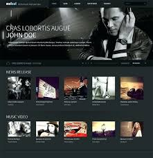 Music Website Templates Interesting Music Bootstrap Template