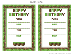 Party Invitation Images Free Free Diy Printable Minecraft Birthday Invitation Clean Eating With