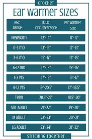 Crochet Ear Warmer Pattern And Size Chart Crochet Ear