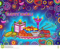 Photo Chart Of Indian Festivals Diwali Decorated Puja Thali For Light Festival Of India